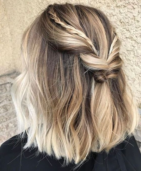How To Style A Long Bob For A Party: 15 Ideas – Styleoholic Inside Most Up To Date Braided Lob Hairstyles (View 12 of 15)