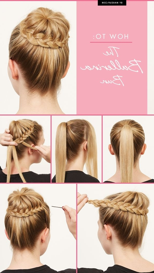 How To: The Ballerina Bun | Pinterest | Ballerina Bun, Ballerina And With 2018 Zipper Braids With Small Bun (View 10 of 15)