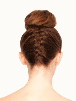 How To: Upside Down French Braid Bun Throughout Current Upside Down French Braids Into A Bun (View 4 of 15)