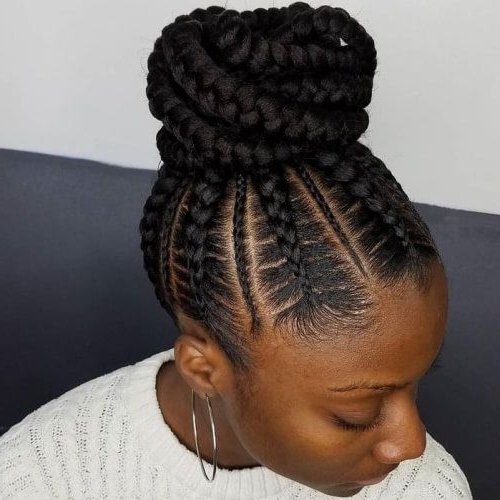 Image Result For Ghana Braids Bun | Best Beauty Products Ever Pertaining To Most Popular Black Braided Bun Hairstyles (View 14 of 15)