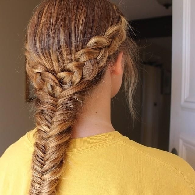 Image Result For Two Dutch Braids Into One Fishtail | Larisa 7 Within Most Current Two Braids Into One (View 13 of 15)