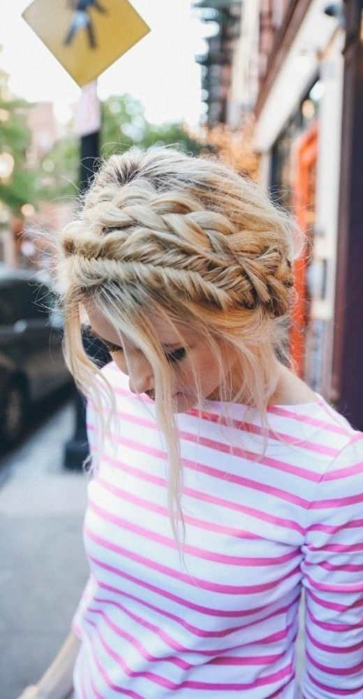 In Love With This Casual Double Braid Crown! | A Twist On Braids Regarding Most Popular Messy Double Braid Hairstyles (View 14 of 15)