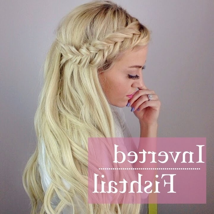 Inverted Fishtail Braid – Youtube With 2018 Upside Down Fishtail Braid Hairstyles (View 8 of 15)
