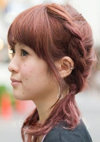 Japanese Asymmetric Sideway French Braid Hairstyle | Hairstyles And within Most Current Japanese Braided Hairstyles