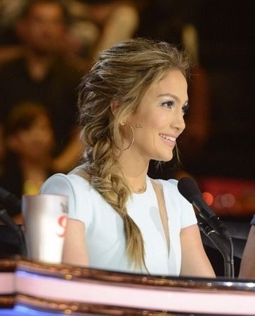 Jennifer Lopez Hair At American Idol - Messy Braided Hair | Hair with Latest Jennifer Lopez Braided Hairstyles