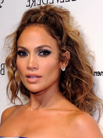 Jennifer Lopez Tousled Long Curly Hairstyle – Popular Haircuts In Most Recently Jennifer Lopez Braided Hairstyles (View 9 of 15)