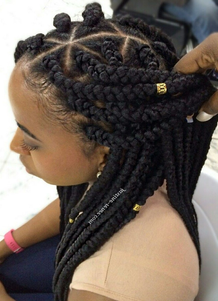 Jumbo Box Braids 4 … | Natural Hair Styles | Pinte… For 2018 Triangle Box Braids Hairstyles (View 2 of 15)
