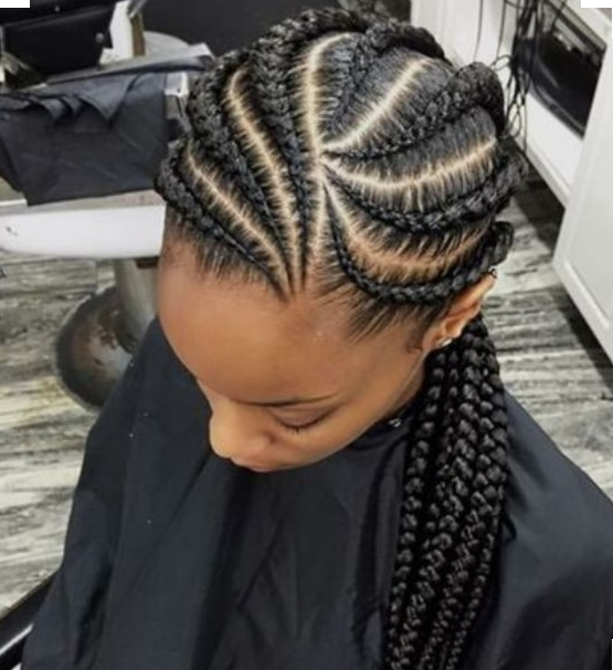 Jumbo Chunky Braid Cornrow Styles To Try – Beauty And Health throughout Most Popular Side French Cornrow Hairstyles