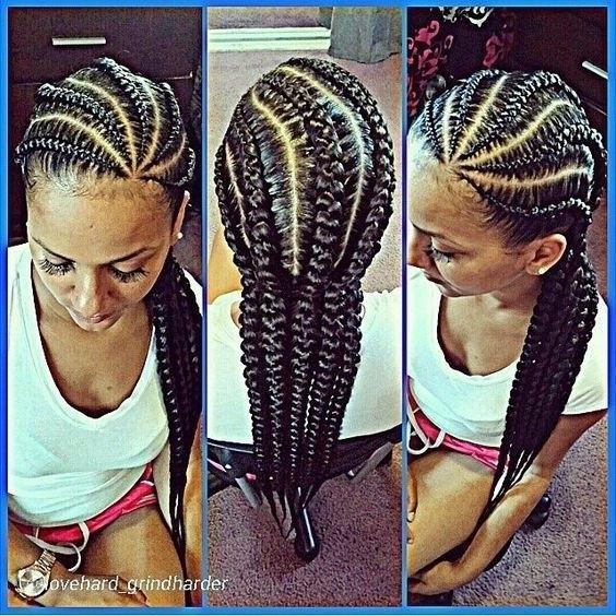 Jumbo Cornrow Braids Hairstyles Idea In Best And Newest Jumbo Cornrows Hairstyles (View 15 of 15)
