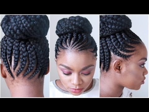 Jumbo Cornrows | Watch Me Get My Hair Done [Video] – Black Hair Intended For Most Up To Date Jumbo Cornrows Hairstyles (View 14 of 15)
