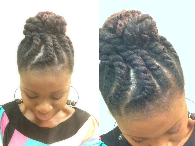 Jumbo Flat Twist Updo With Marley Hair – Coilybella With Recent Cornrows Twist Hairstyles (View 14 of 15)