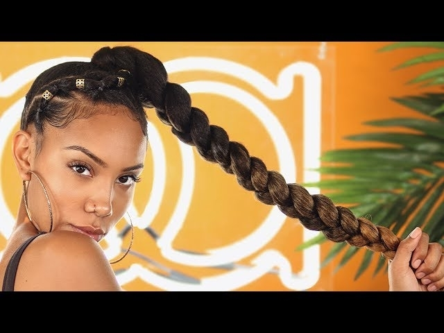 Jumbo Ombre Braids Might Just Become Your New Favorite Go-To-Style within 2018 Braided Hairstyle With Jumbo French Braid