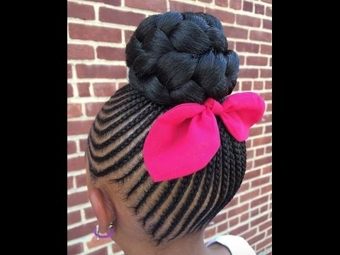 Kids Braided Hairstyles : Hairstyles For Your Little Girls – Youtube Inside Current Braided Hairstyles For Little Girl (View 7 of 15)