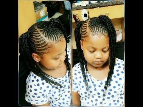 Kids Braids Hairstyles 2018 : Beautiful Styles For Cute Little Girls Pertaining To Newest Braid Hairstyles For Little Girl (View 14 of 15)