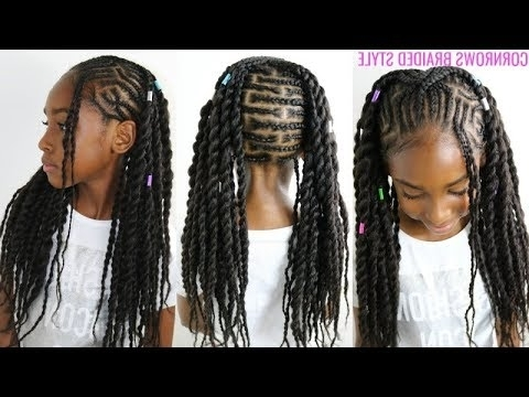 Kids Natural Hair Styles | Cornrows Braided Style (Back To School throughout Newest Cornrows Hairstyles To The Back