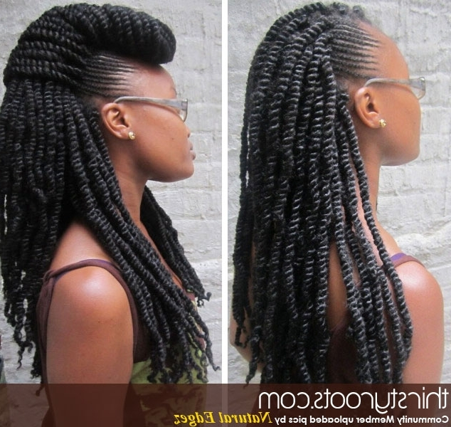 Kinky Twists And Braids For Most Recently Twist Braided Hairstyles (View 15 of 15)
