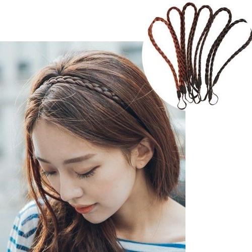Korean Braided Hair Band Hairband Braid Hairstyle Natural Black Regarding Recent Korean Braided Hairstyles (View 9 of 15)