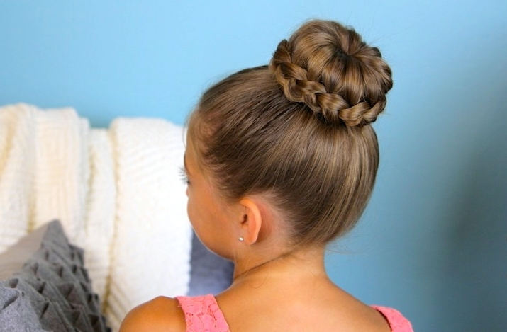 Lace Braided Bun | Cute Updo Hairstyles | Cute Girls Hairstyles Within Most Current Donut Bun Hairstyles With Braid Around (View 15 of 15)