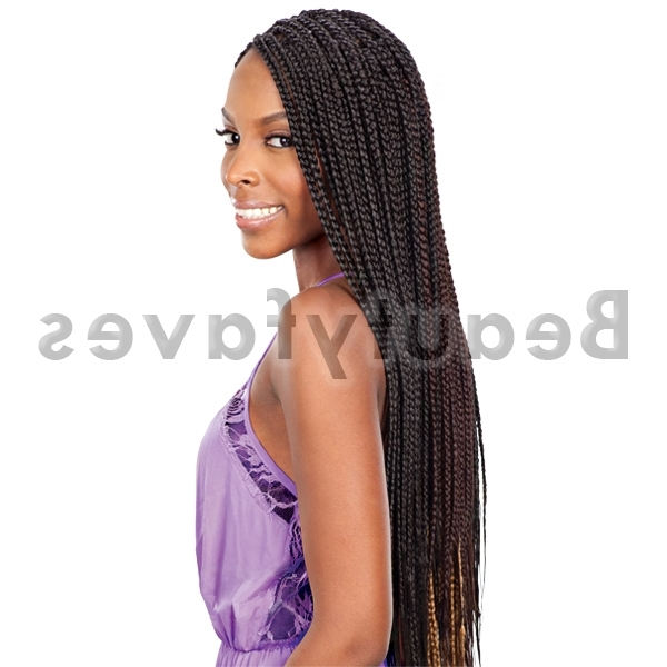 Large Box Braids – Freetress Synthetic Bulk Crochet Braiding Hair With Regard To Best And Newest Braided Extension Hairstyles (View 6 of 15)