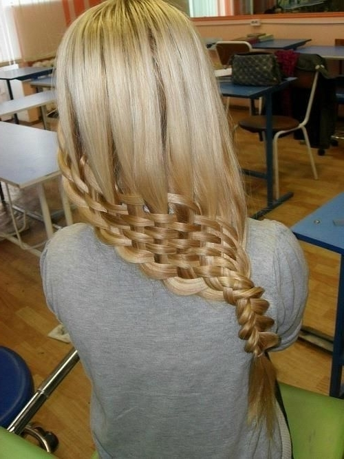 Lattice Braid | Awsome And Groovy | Pinterest | Basket Weave Braid In Most Recent Lattice Weave With High Braided Ponytail (View 7 of 15)