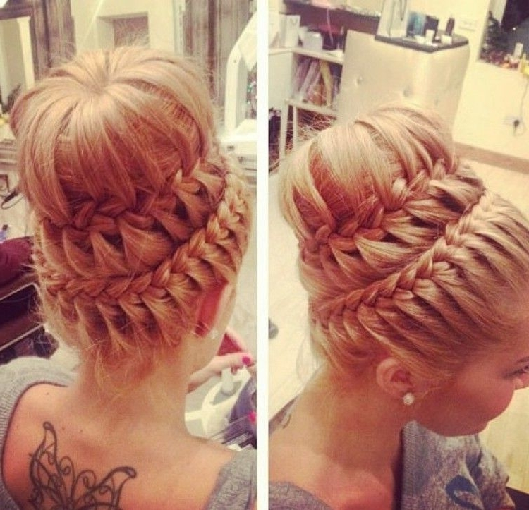 Layered Braided Sock Bun Who Is Goin To Let Me Try This On Them Within Newest Braid Into Sock Bun (View 10 of 15)