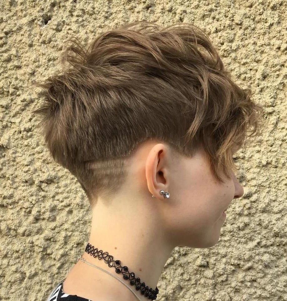 Layered Tapered Pixie Cut | Chic Short Hair Styles | Pinterest For Most Up To Date Tapered Pixie With Maximum Volume (View 2 of 15)