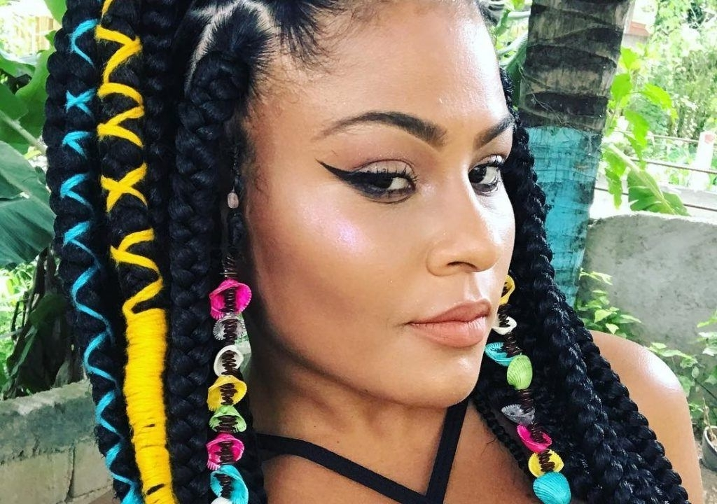 Learn How To Colorfully Add Spice To Your Braids With This Easy Tip Inside Most Recent Kenyan Braided Hairstyles (View 7 of 15)