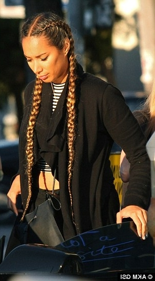 Leona Lewis Nails Off Duty Chic And French Braids As She Enjoys A In Current Two Extra Long Braids (View 2 of 15)