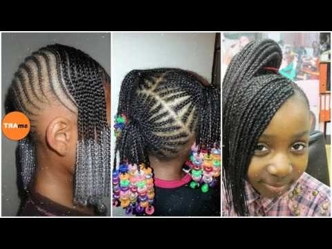 Lil Girl Braiding Hairstyles – Little Black Girl Natural Hair Styles Throughout Most Recent Braided Hairstyles For Little Girl (View 2 of 15)