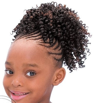 Little Black Girl Hairstyles | 30 Stunning Kids Hairstyles In Newest Crossed Twists And Afro Puff Pony (View 6 of 15)