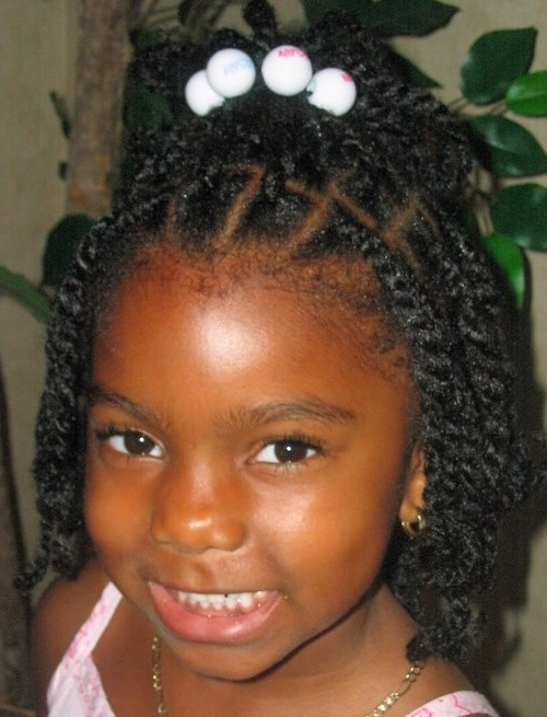 Little Black Girls Braided Hairstyles For School – Cute Braided Inside Most Recent Black Girl Braided Hairstyles (View 13 of 15)