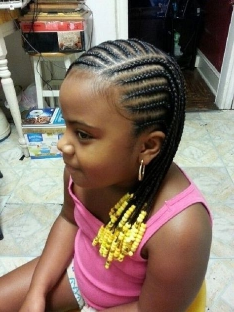 Little Black Kids Braids Hairstyles Picture Regarding Braided Intended For Most Current Black Girl Braided Hairstyles (View 9 of 15)