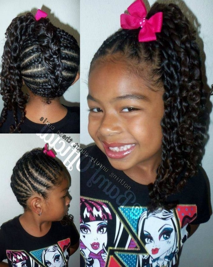 Little Girl Braid Hairstyles With Weave Best Of Feed In Braids Corn With Most Current Braided Hairstyles Into A Ponytail With Weave (View 15 of 15)