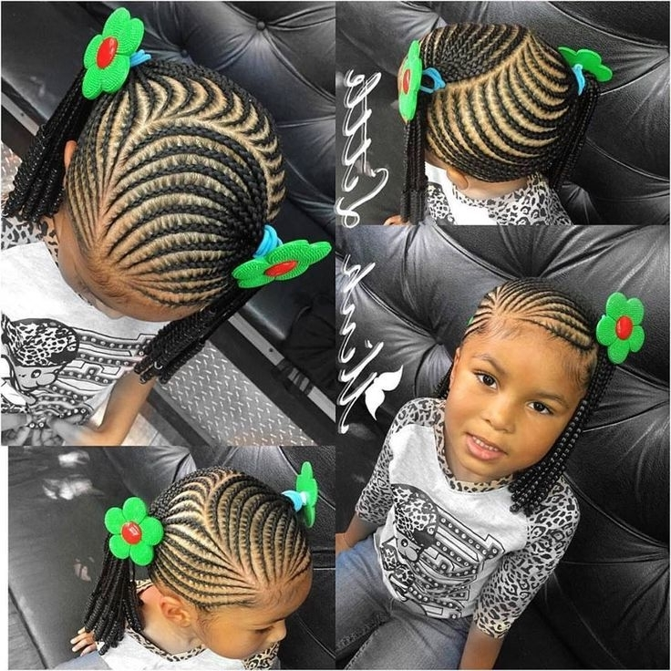 Little Girl Braiding Styles | #teamnatural | Pinterest | Girls, Kid With Most Recently Braided Hairstyles For Young Ladies (View 5 of 15)