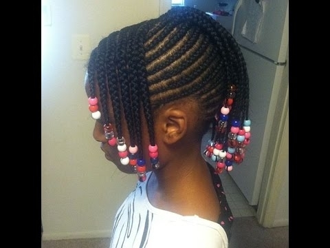 Little Girl Cornrows Hairstyles : Scintillating – Youtube Intended For Most Current Cornrows Hairstyles For Ladies (View 15 of 15)