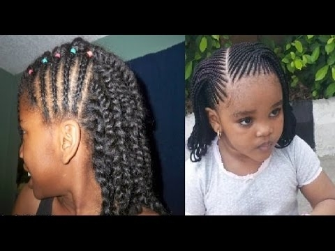 Little Girl Twist Hairstyles – Youtube Intended For 2018 Braided Hairstyles For Young Ladies (View 15 of 15)