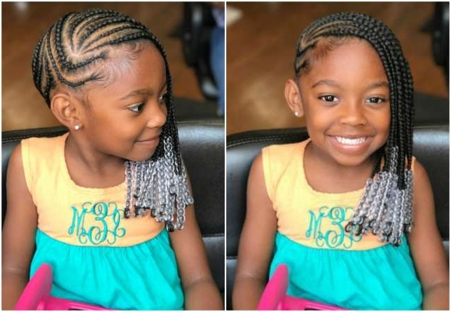 Little Girls Rocking Beyonce Inspired Lemonade Cornrow Styles With Most Recent Cornrows Hairstyles For Little Girl (View 15 of 15)