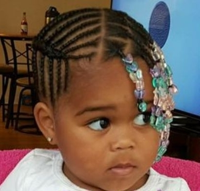 Little Kids Braids Toddler Braided Hairstyles With Beads Hairstyles Throughout Most Popular Toddlers Braided Hairstyles (View 13 of 15)