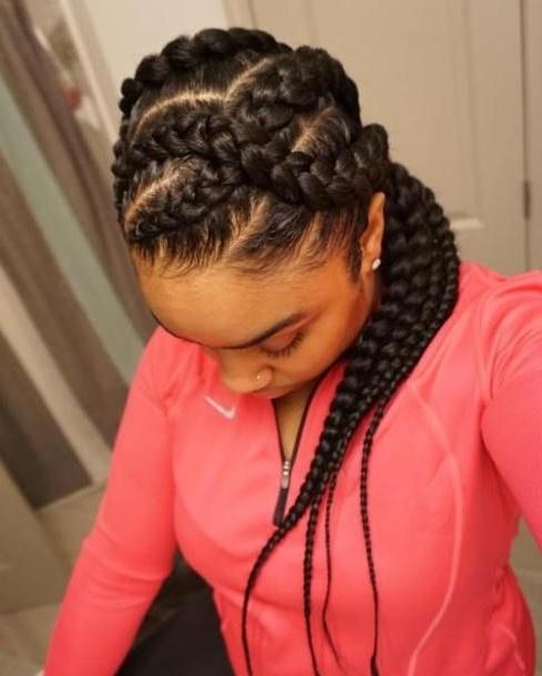 Long Curvy Goddess Braids Hairstyle   Hair Styles   Pinterest Regarding Most Recently Long Curvy Braids Hairstyles (View 2 of 15)