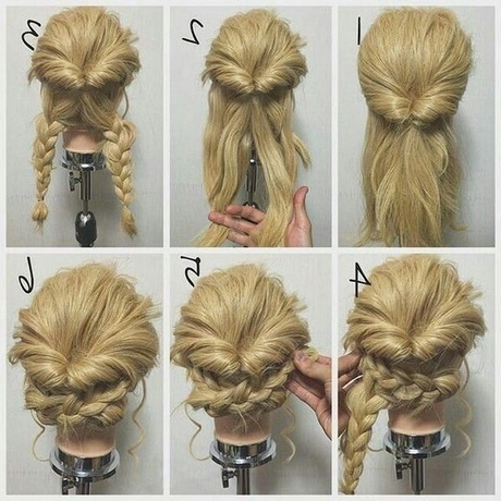 Long Hair Updos Easy Casual With Newest Easy Casual Braided Updo Hairstyles (View 15 of 15)