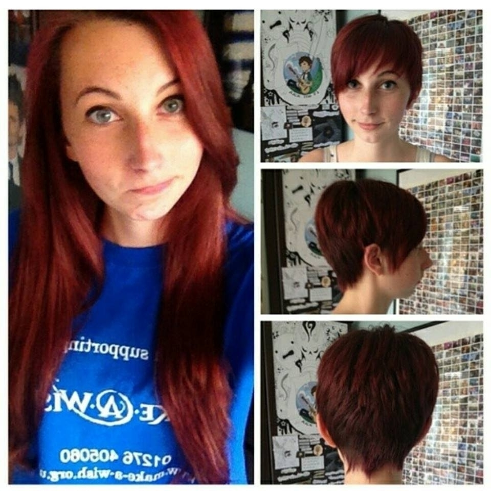 Long To Pixie Haircut Haircut On Long Red Hair Cut To A Pixie Cut Inside Newest Long Red Pixie Haircuts (View 7 of 15)