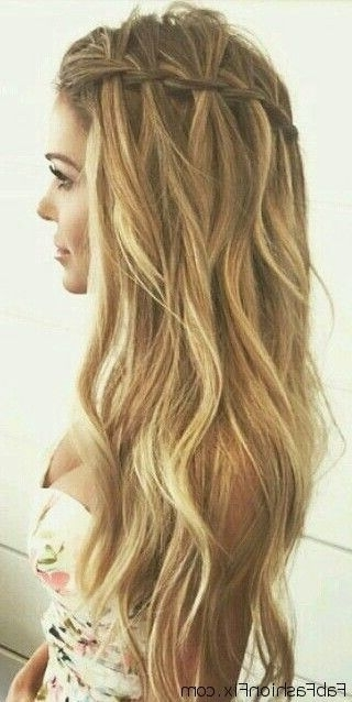 Loose Waterfall Braid For Summer Hair Inspiration (View 8 of 15)