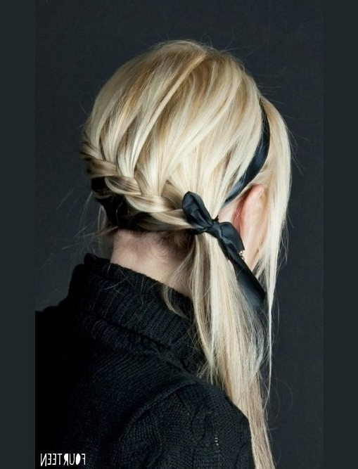 Love This Hair Style! Website Has Cute Hair Styles!! From:http Throughout Most Recently Braided Ribbon Hairstyles (View 12 of 15)