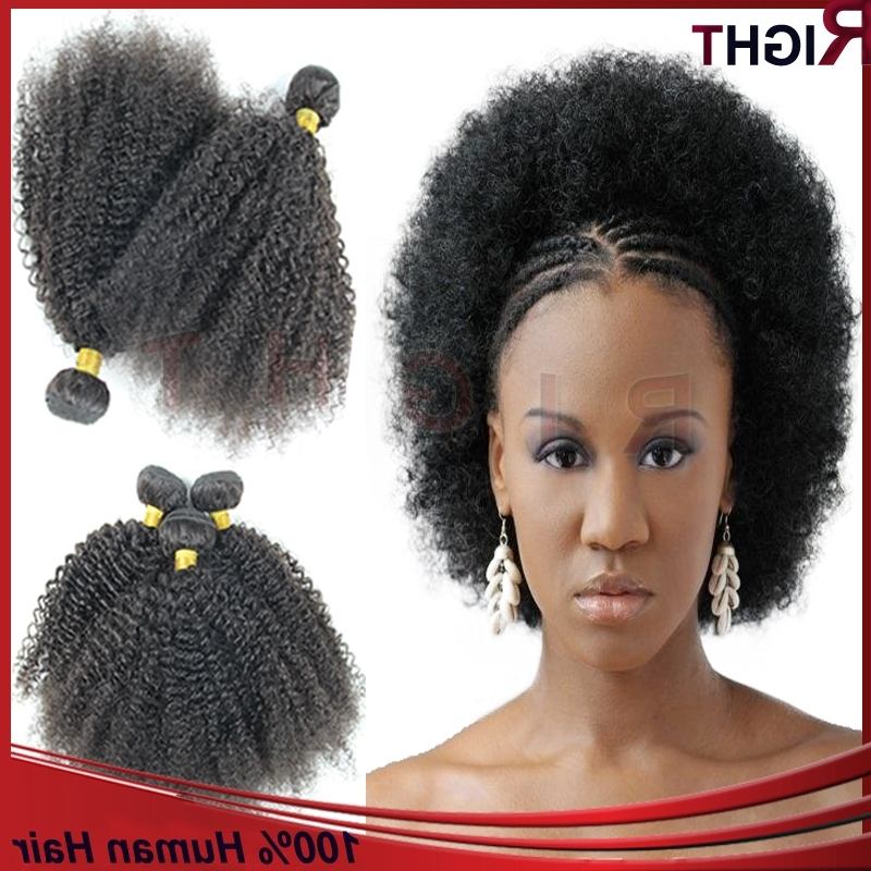 Malaysian Virgin Hair 3Pcs Braiding Hair Afro Kinky Curly Hair Throughout Current Braided Hairstyles With Curly Weave (View 8 of 15)