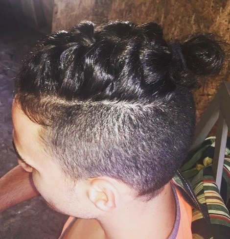 Man Braid Hairstyle Guide: New Braided Man Bun Trend – Man Bun Hairstyle With Best And Newest Braided Hairstyles With Undercut (View 9 of 15)
