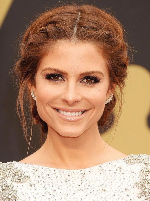 Maria Menounos With A Middle Part Updo (View 5 of 15)