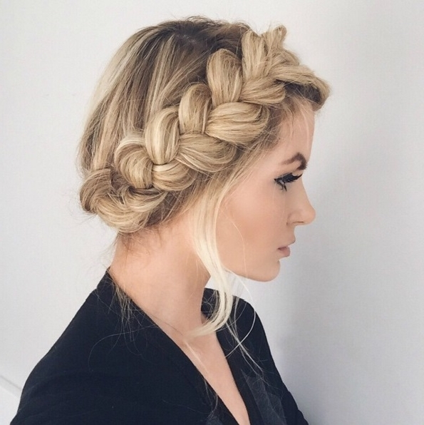 Master The Crown Braid Hairstyle Here's How | Beauty In Recent Braided Hairstyles With Crown (View 10 of 15)