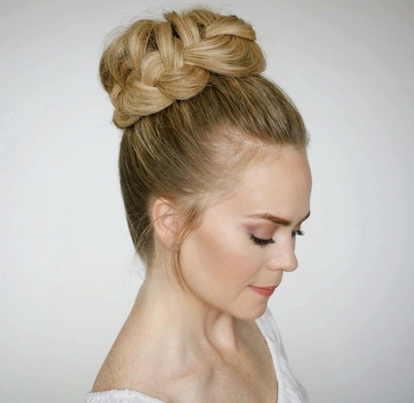 Master The French Braided Updo In 4 Simple Steps | Beauty Throughout Most Recent Missy Sue Braid Hairstyles (View 13 of 15)