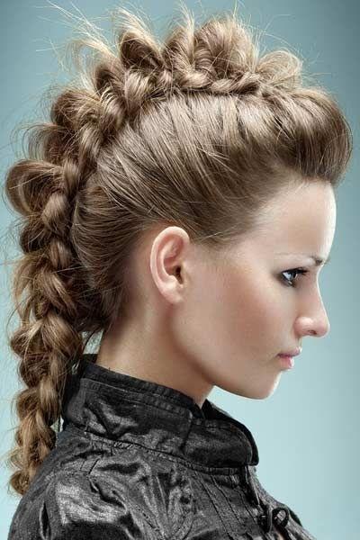 Mermaid Braid   Hair Styles   Pinterest   Mohawks, Braided Mohawk Within Newest Mohawk With Double Bump Hairstyles (View 6 of 15)