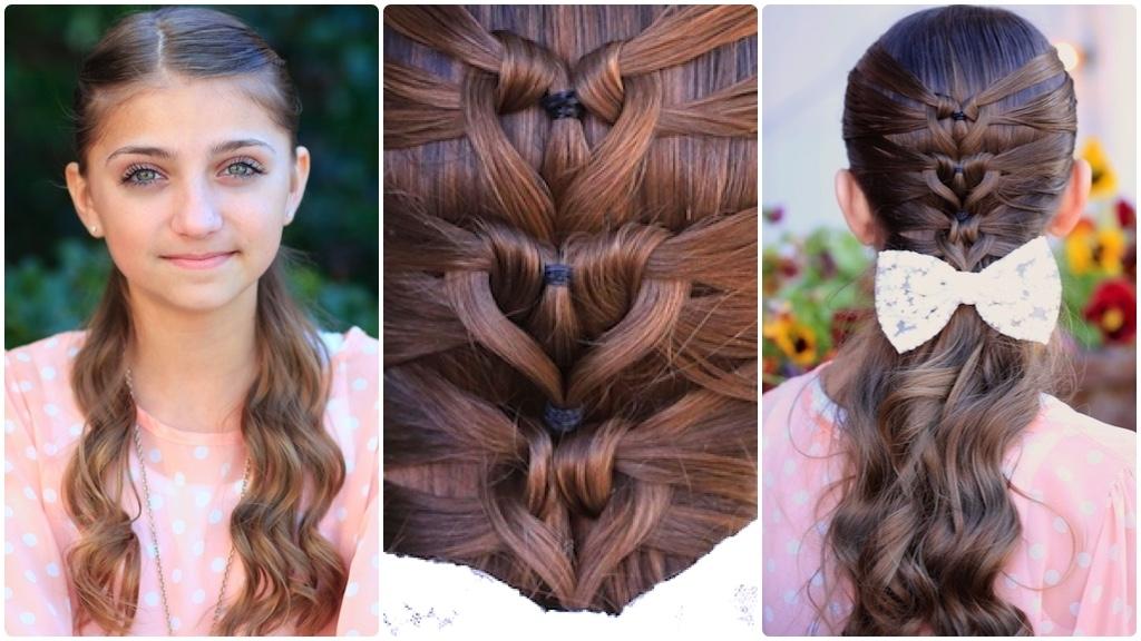 Mermaid Heart Braid | Cute Valentine's Day Hairstyles | Cute Girls With Regard To 2018 Heart Braided Hairstyles (View 12 of 15)